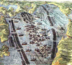 Don Juan of Austria, the son of the King of Spain, was stirred by the danger and sent out urgent appeals for help and eventually he gathered a sturdy fleet. The Venetians were especially passionate about this battle. The Turks had repeatedly battered an island port they maintained, and their commander pleaded with the Turks for a truce. The Turks finally gave the promise of safe passage to him and his subjects, directly after which, they took Marcantonio Bragadino prisoner, beat him, cut off his nose and ears, put a collar on him and made him crawl into a cage. In a little cage, he was hoisted up on the mast of the galley so that all in the fleet and land could see him. He was then brought down, flayed mercilessly, his skin stripped from his body until he died. Thousands of the Venetians were slaughtered on the spot or driven off in captivity to serve on the Turkish ships in the galleys. Many of these poor souls were the very men who powered the Turkish ships against the Christians in the Battle of Lepanto. Their war was against the Christians and they wielded the demonic weapons of hate, lies, torture and death.