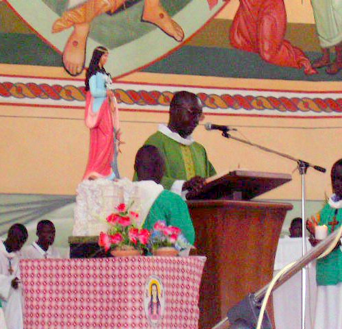 Feast of Saint Philomena Mass of the Universal Living Rosary Association of Saint Philomena Missionary Center in Côte d'Ivoire.
