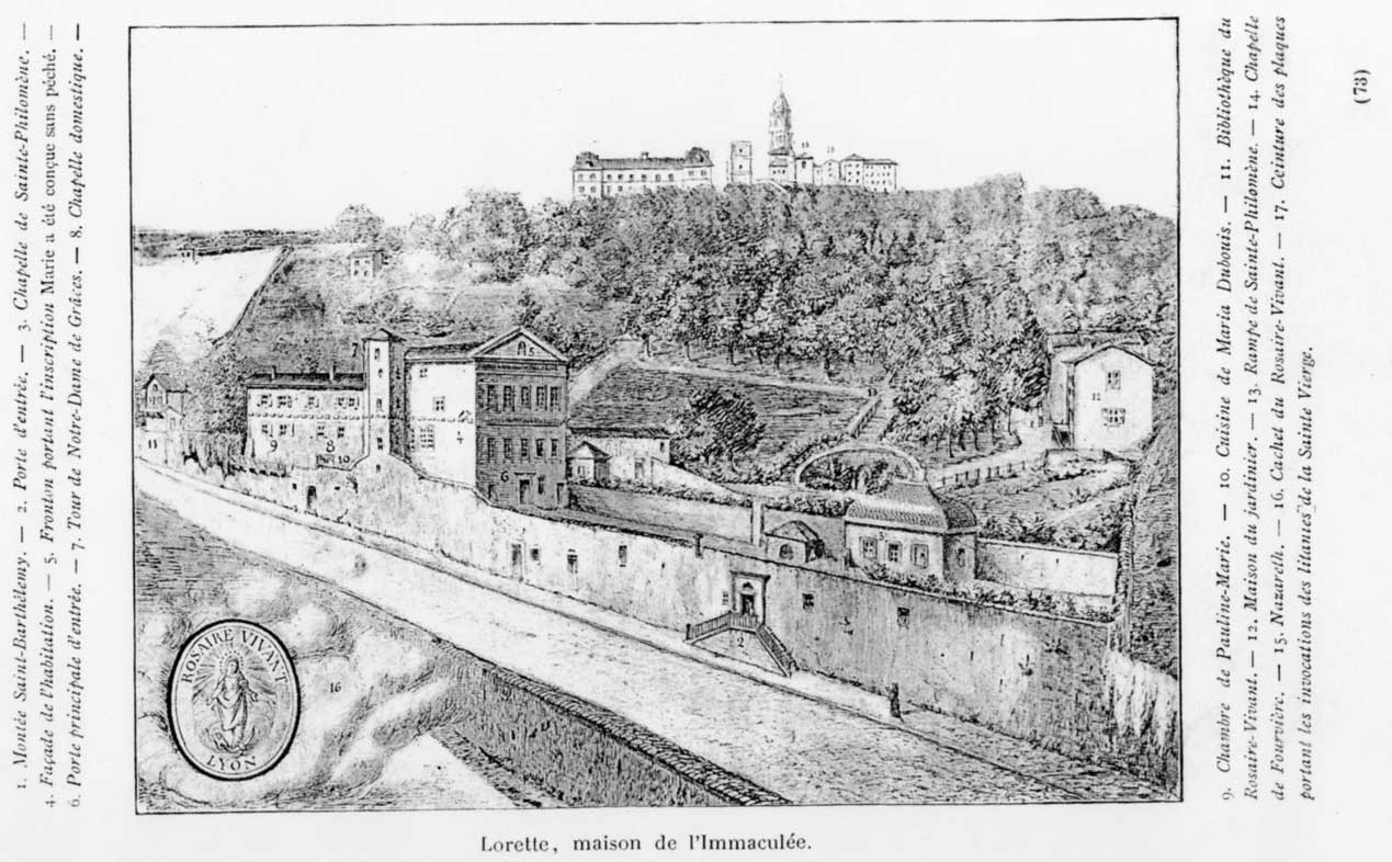 Very Old Etching of Pauline's home.