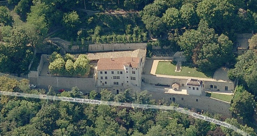 Aerial View Showing Pauline's Home.