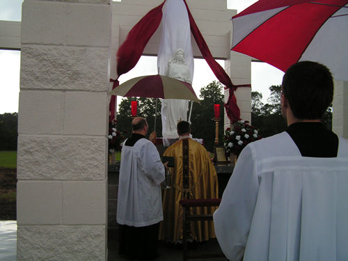 Father Partain, inaugurates new Saint Philomena Shrine in Mansura, Louisiana, United States, August Feast Day, 2008
