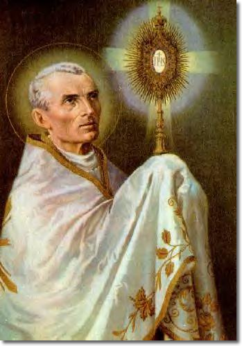 Saint Peter Julian Eymard – A French Catholic priest and Apostle of the Eucharist, he always kneeled before a Sacred Relic of St. Philomena and was cured in 1854 after having recited a novena in her honor.