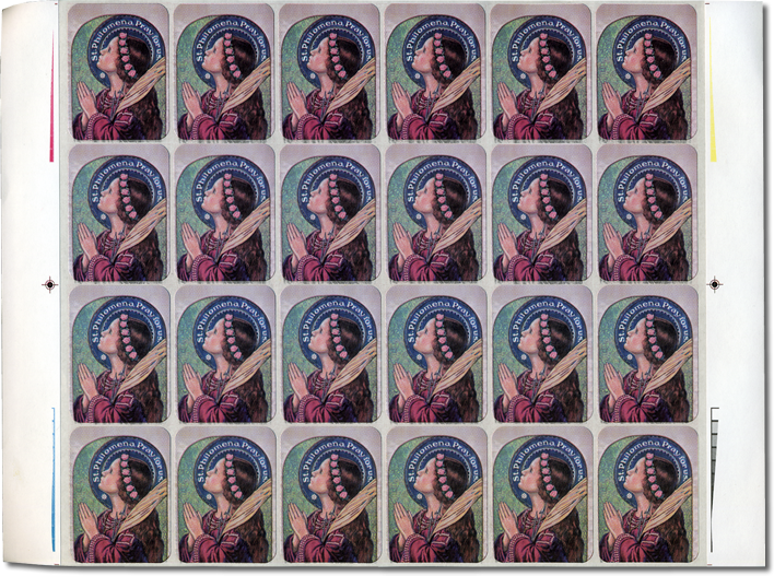 4 Sheets of St. Philomena Envelope Stickers