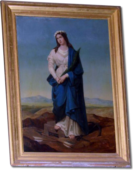 A beautiful painting of Saint Philomena in the church of Liancourt, France.