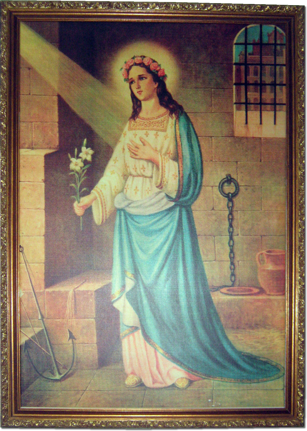 Photo taken by Stefan Neikes A Painting of Saint Philomena in the shrine in Mugnano.