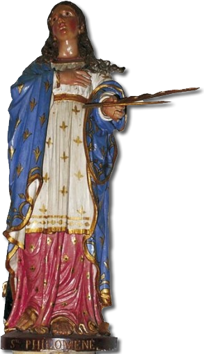 Sainte Philomène Statue in the Notre Dame du Folgoat Chapel in LandÉvennec, France.