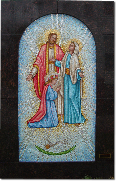Produced for Father Gibas at Saint Clement Church, Navarre, OH - Saint Philomena mosaic