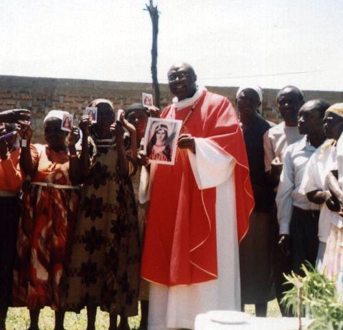 Priest from the Universal Living Rosary Association of Saint Philomena Missionary Center in Africa.