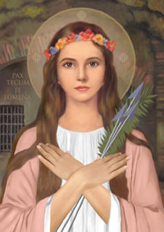 The program aims to foster devotion to St. Philomena but also encourages the youth to form Children of Mary circles in their schools and parishes. Pope Pius IX declared St. Philomena to be the patroness of the Children of Mary and the Living Rosary Association, and the Archconfraternity of St. Philomena. All three have agreed to be co-sponsors of a revived 'Sodality' movement. Fr. Chad Partain, the chancellor of the Diocese of Alexandria in Louisiana, has been named to spearhead the program and act as the Director of the Congregation of the Children of Mary. Literature is included in each Mini-Shrine detailing the process of how to form a Children of Mary circle and what is entailed so that the work of spiritual formation may continue. Each circle, composed of at least five members, will be registered with both the Living Rosary Association and with the Archconfraternity of St. Philomena. In this way, the children enrolled will share in the spiritual blessings and indulgences attached to those organizations. Each child registered will assume responsibility for praying one decade of the Rosary each day and for invoking the aid of St. Philomena. The Children of Mary circles will meet on the first Saturday of the month to foster devotion to the Immaculate Heart of Mary and to fulfill Our Lady's requests for prayer and penance.