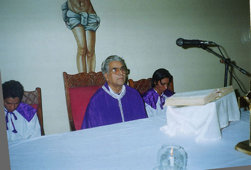 Father Thomas Gulfam during Holy Mass.