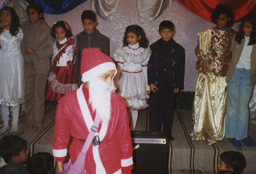 Children participating in tableau.