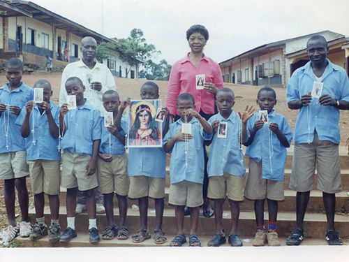 New Universal Living Rosary Association of Saint Philomena members in Bamenda, Cameroon, Africa