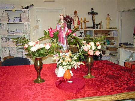 Happy Birthday Saint Philomena Office Party at the Universal Living Rosary Association Headquarters in Dickinson, Texas, Monday, January 12, 2009.