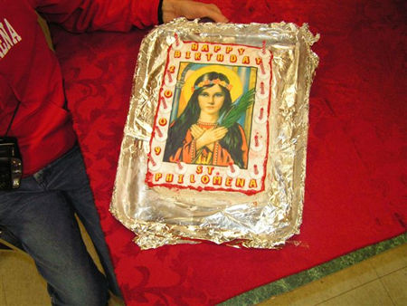 Happy Birthday Saint Philomena Office Party at the Universal Living Rosary Association Headquarters in Dickinson, Texas, Monday, January 12, 2009.