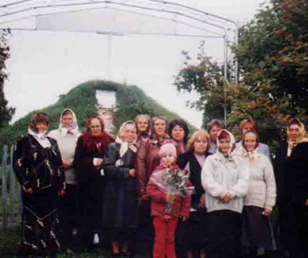 Members of Universal Living Rosary Association of Saint Philomena from village Stankova. The woman who is in charge of Living <a href=