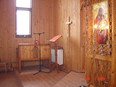 Entering in this Monastery we can see they have installed the heating radiators but they have no more money to buy the CENTRAL STATION and to finish this work having possibility to come much more people at this Church. They are sick because of the could. People no come because of the could too. It was about -20 degrease Celsius in that period.