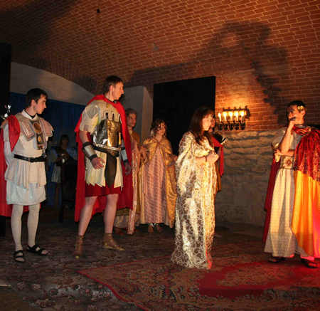 Ukrainian Parish youth write, produce and perform play enactment of the life of Saint Philomena.