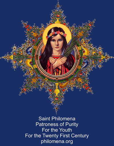 Saint Philomena Holy Card