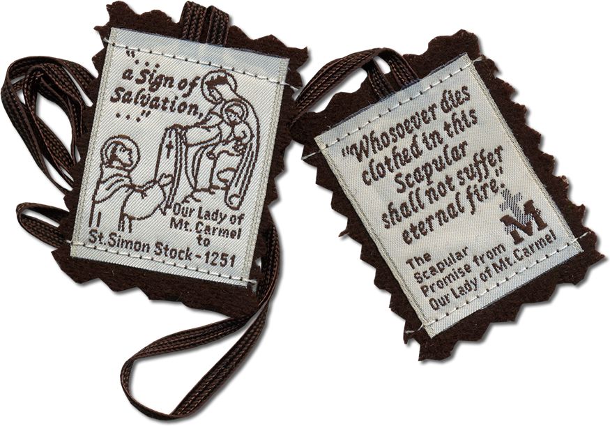 necklace scapular medal dp mount our pewter carmel on catholic sacred steel stainless lady of a heart com amazon